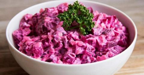 Свекольный салат для гурманов