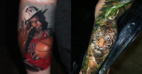 Гиперреалистичные татуировки…