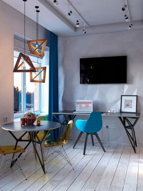 Дизайн однокомнатной квартиры со спальной зоной
