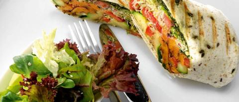 Рецепты без мяса. Буррито с овощами