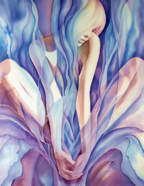 Шелковая живопись Олены Королюк