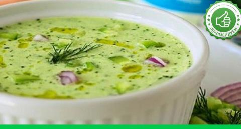 Холодный суп из огурцов