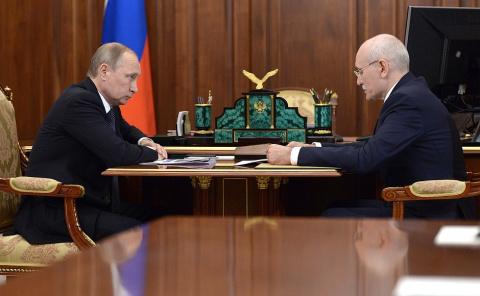 Рабочая встреча с главой Республики Башкортостан Рустэмом Хамитовым