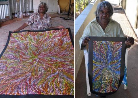 Яркая живопись австралийских…