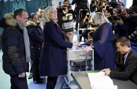 Опубликованы промежуточные результаты экзитполов на выборах президента Франции по состоянию на 12:00