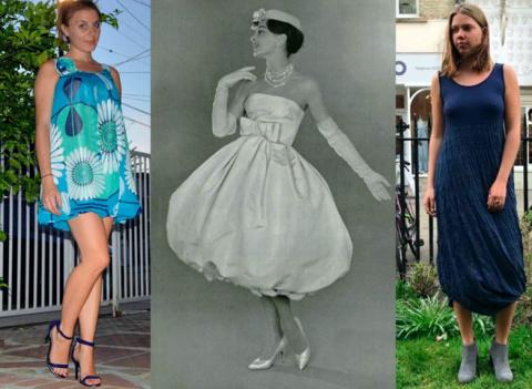 Как носить платье-баллон