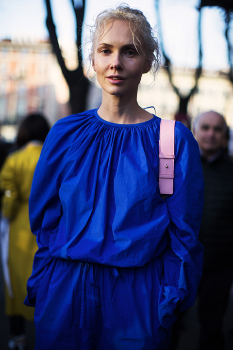 On the Street…Bold in Blue, Milan