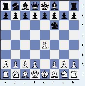 1.e4 Nf6 Защита Алехина