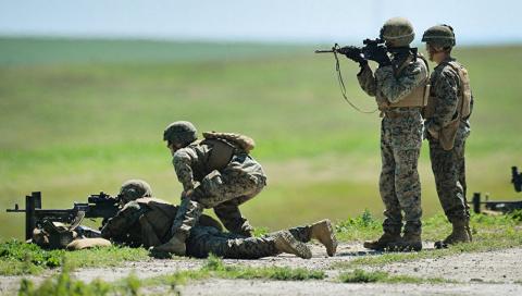 Курам не до смеха: морпехи США «освобождают Украину»