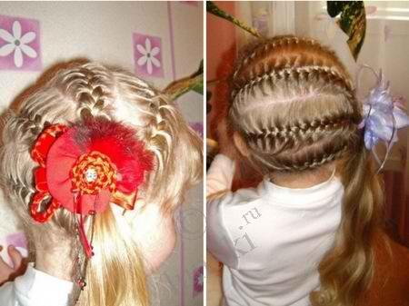 Причёски для дочек