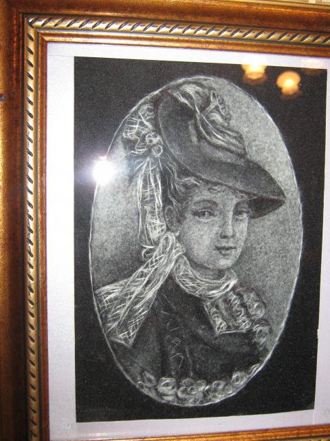 Флор-портреты из пуха (фото)