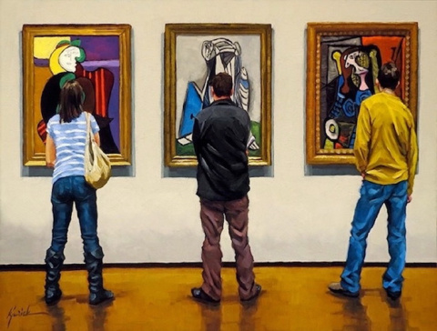 Живопись: Зрители в картинно…