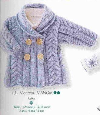 Детские вязанные пальто