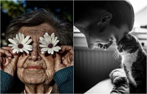 Пронзительные портреты от талантливых мастеров фотографии.