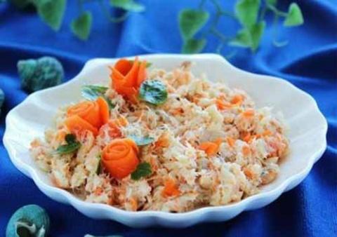 Салат из отварной рыбы