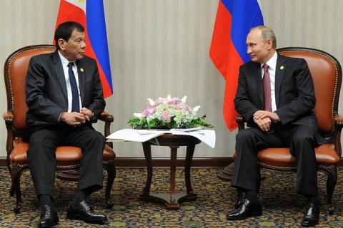 Президент Филиппин признался, что очень ждал знакомства с Путиным
