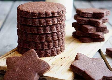 Шоколадное сахарное печенье