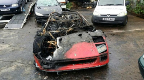 Легендарный Ferrari F40 сгор…