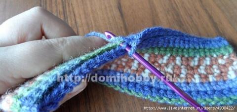 Простая техника вязания крючком толстого полотна. МК.