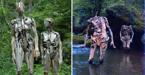 Искусство Нагато Ивасаки, которое никого не оставят равнодушным. Угадаете, из чего сделаны скульптуры?
