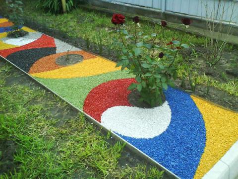 Декоративная отсыпка для сада - и красиво и полезно!