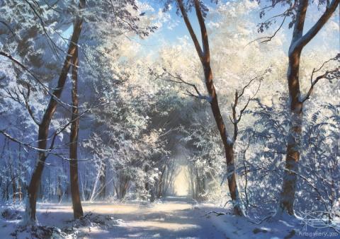 Зимний, сказочный лес... Художник Юшкевич Виктор Николаевич