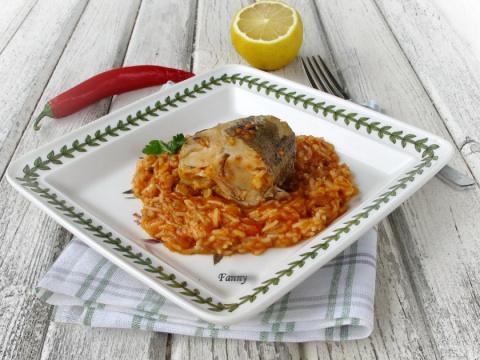 Рыба с рисом по-тунисски