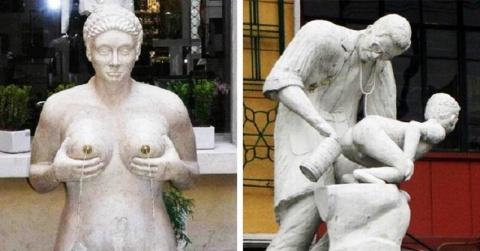 23 статуи, глядя на которые ты точно усомнишься в адекватности их творцов.