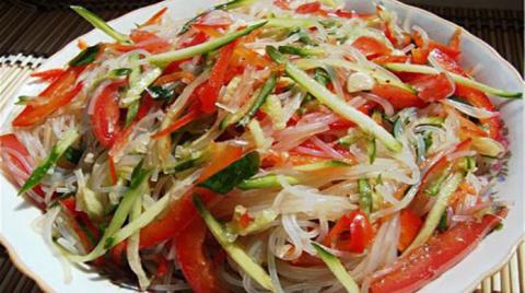 Фунчоза по-корейски с овощами