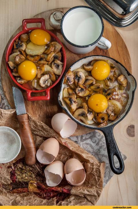 Яичница, запеченная с картофелем и сливками: Ниро Вульф