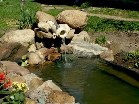 Красивые идеи фонтанов на даче