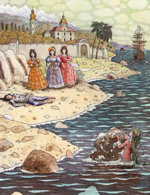 Борис Диодоров «Русалочка», илллюстрации
