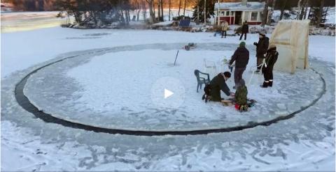 Головокружительная ледяная карусель по-фински
