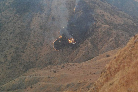 Опубликовано видео с места крушения самолета в Пакистане