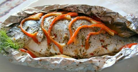 Блюда из запеченной рыбы