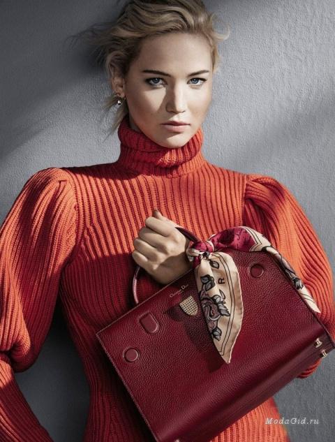 Дженнифер Лоуренс в осенне-зимней рекламной кампании сумок Dior