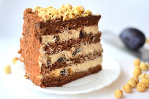 Шоколадный торт с «пьяным» ч…