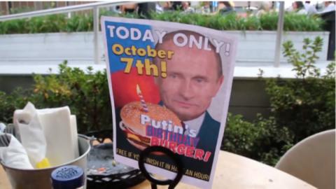 Бургер в честь Путина в Нью-…