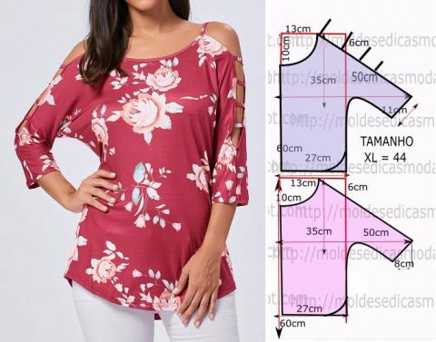 Блуза. Выкройка на 44-й евро размер