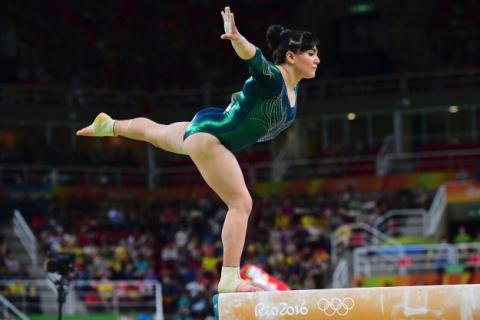 Мексиканская гимнастка высту…
