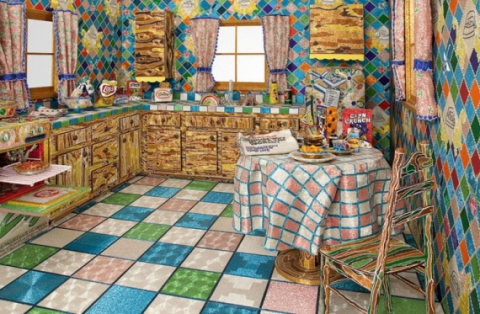 Кухня из бисера. Потрясающе!