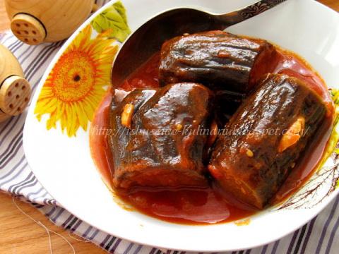 Баклажаны в томатном соусе по-армянски