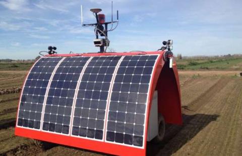 Австралийский робот-фермер возделывает лук и шпинат