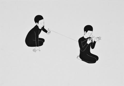 Рисунки тушью: алогичный мир монохромных эмоций