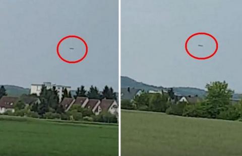 Громадный сигарообразный НЛО над Германией