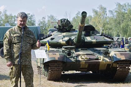 Порошенко заявил о готовности выдвинуть танки на передовую в Донбассе
