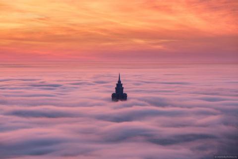 Москва под облаками - красот…