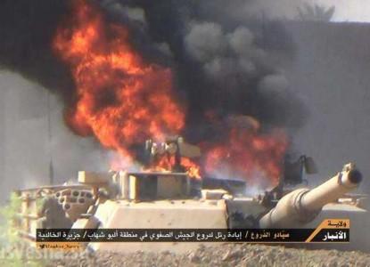 Американские танки горят в И…