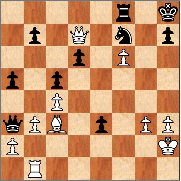 Шахматная диаграмма. Белые начинают и выигрывают
