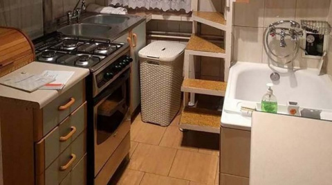 Смелое дизайнерское решение для малогабаритной квартирки